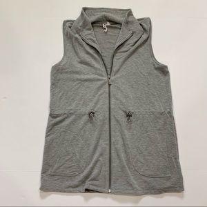 Cable & Gauge Grey Full Zip Vest Size Medium